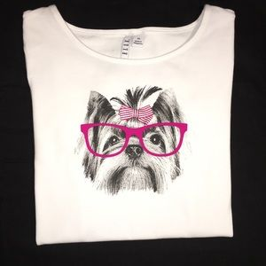 🐾🎀NWT-Elle T-shirt With A Yorkie's Face
